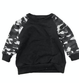 Portage & Main Black Camo Raglan Sweatshirt