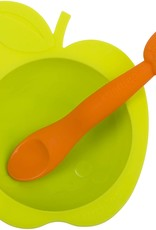 Kushies Kushies Silibowl & Spoon Set - Assorted Colours