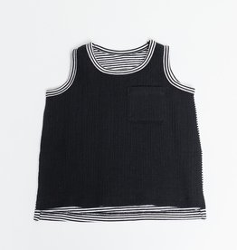 Greige Remix Tank - Black