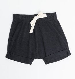 Greige Harem Shorts - Black