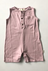 Greige Bamboo Short Romper - Pink