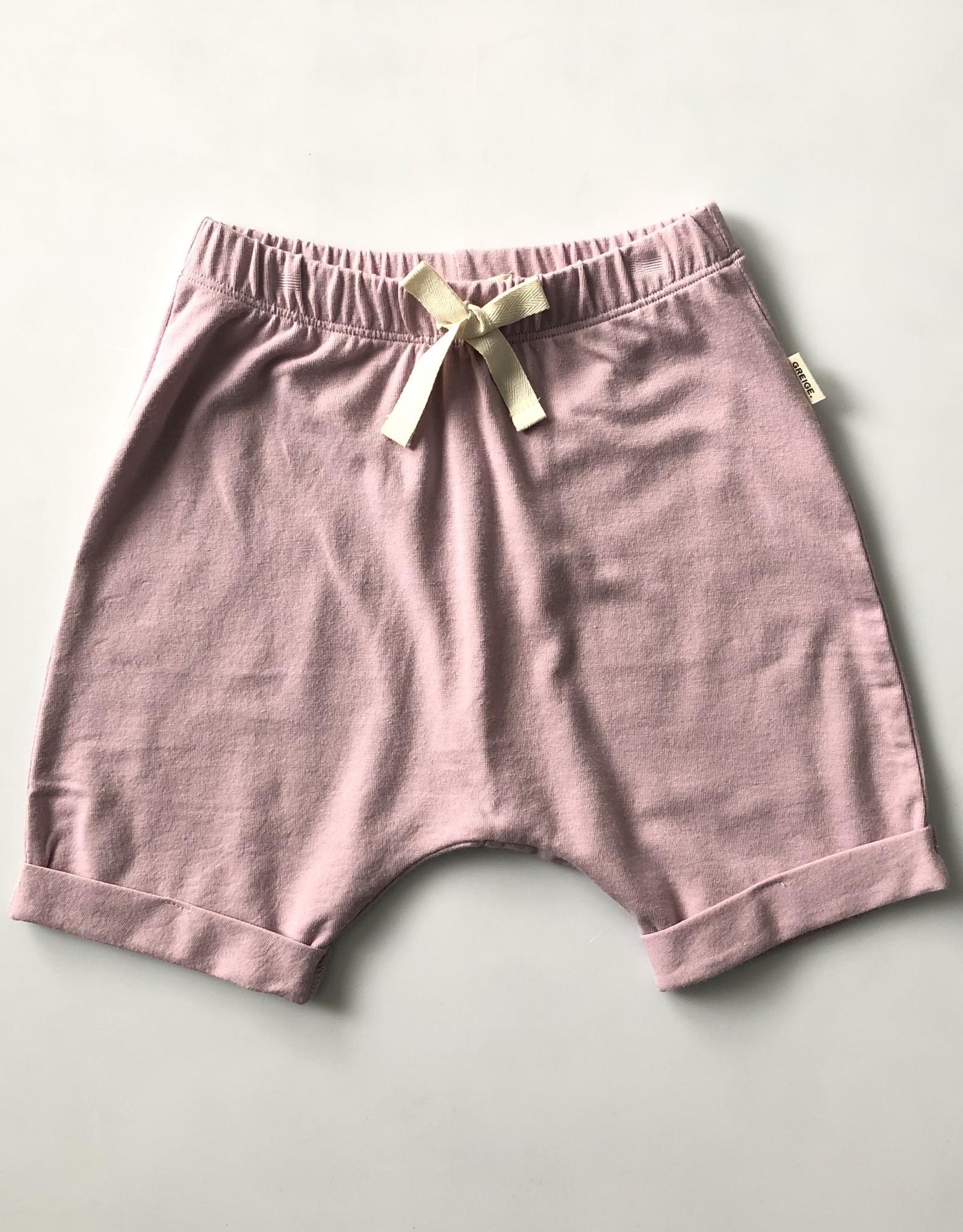 Greige Harem Shorts - Pink