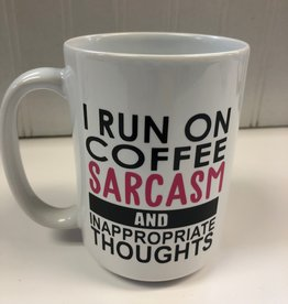 Monkeyfly I run on coffee , sarcasm, and inappropriate thoughts Mug