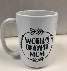 Monkeyfly World's Okayest Mom Mug