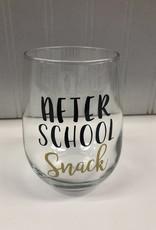 Monkeyfly After School Snack Stemless Wine Glass
