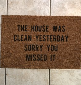 Monkeyfly The House Was Clean Door Mat