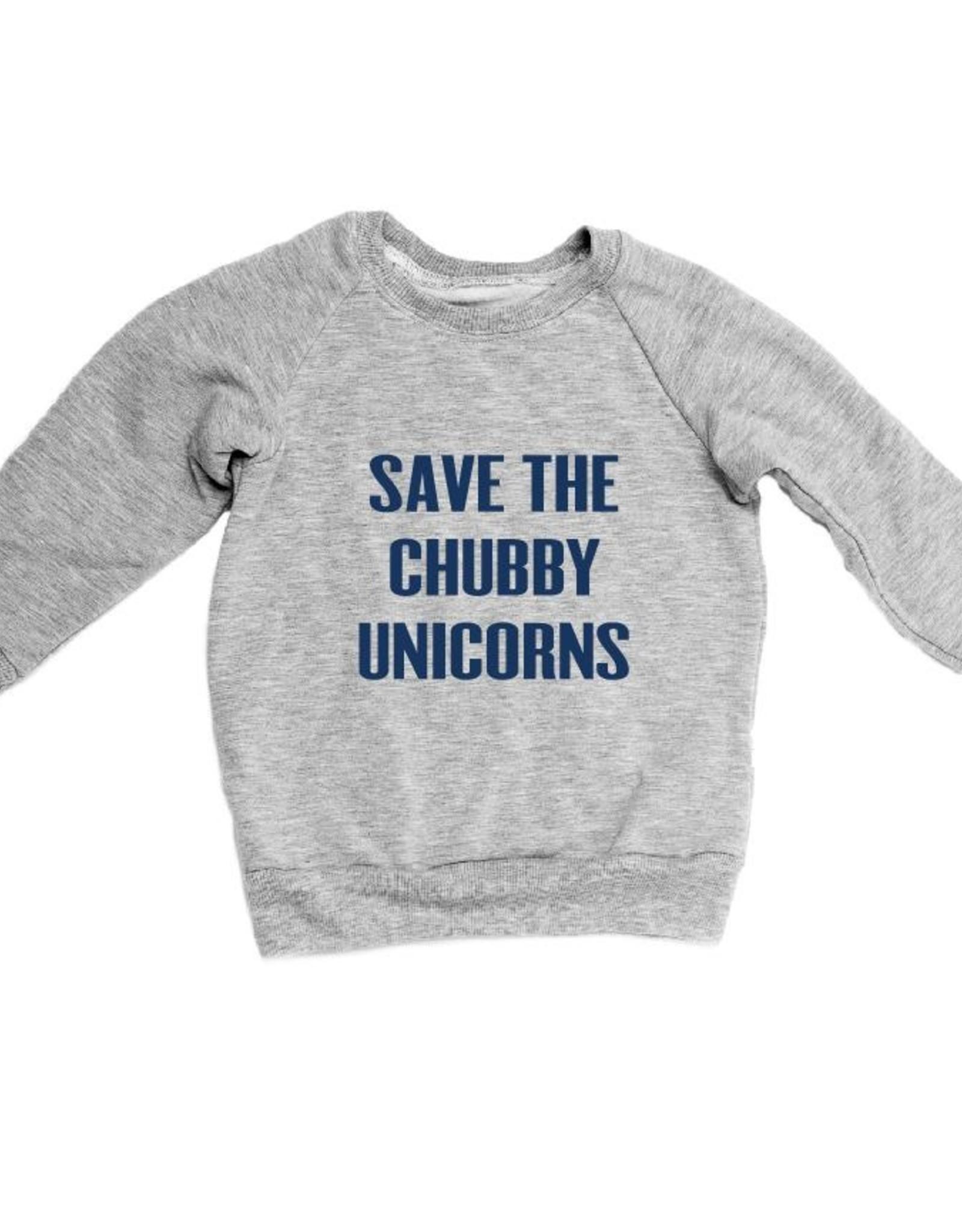 Portage & Main Save The Chubby Unicorns Sweat Shirt