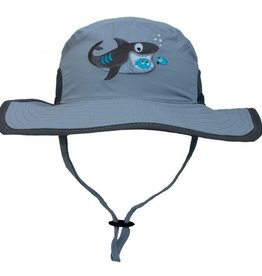 CaliKids Quik Dry UPF 50 + Shark Hat -Grey