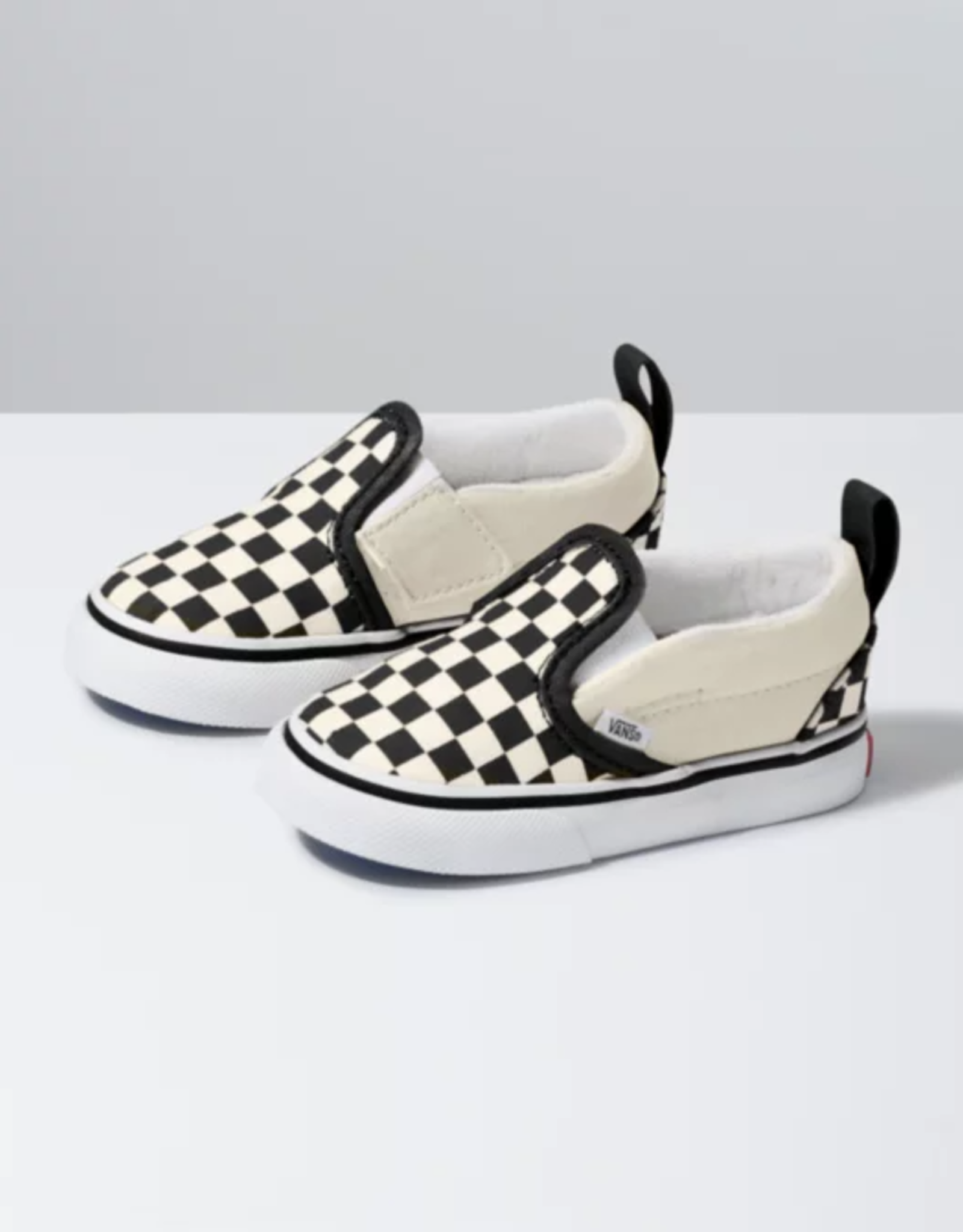 Vans Toddler Asher Checkerboard Slip On blk/wht
