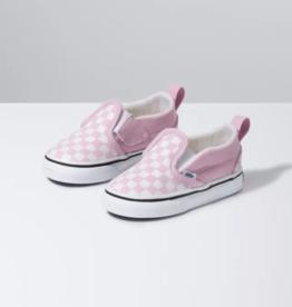 Vans Toddler Slip On Checkerboard Pink/White