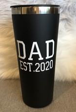 Dad Est. 2020 Black Roadie 22oz S/S Tumbler