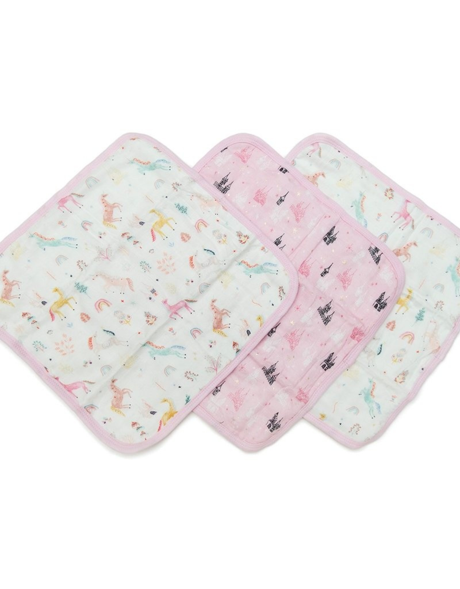 LouLou Lollipop Wash Cloth 3 pack Unicorn Dream