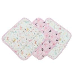 LouLou Lollipop Wash Cloth 3 pack Unicorn Dream