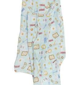 LouLou Lollipop Single Swaddle - Breakfast Blue