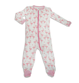 Silkberry Bamboo Footed Sleeper w/Zip - Flamingo