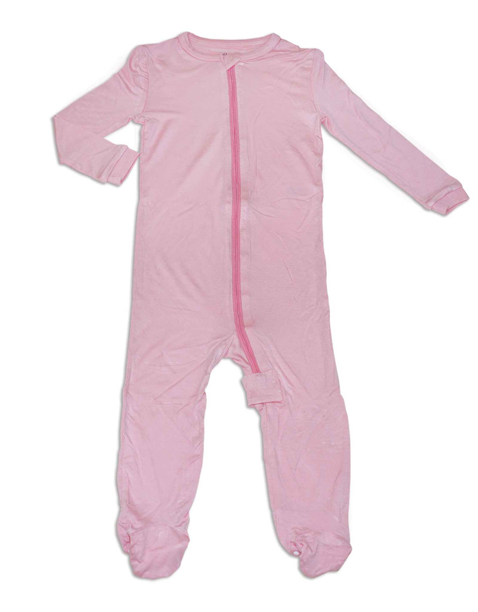Silkberry Bamboo Footed Sleeper w/Zip - Jelly Fish Pink