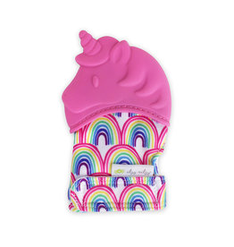 Itzy Ritzy Teething Mitt  Hot Pink Unicorn