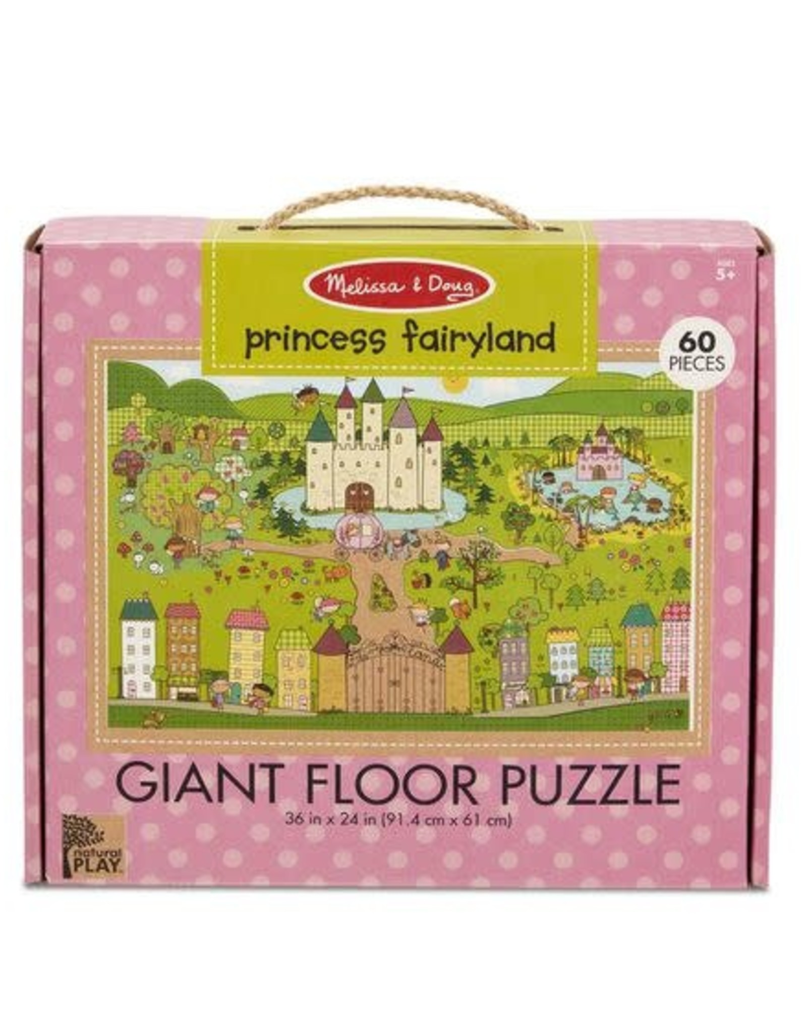 Melissa & Doug Giant Floor Puzzle Princess Fairyland 60pc