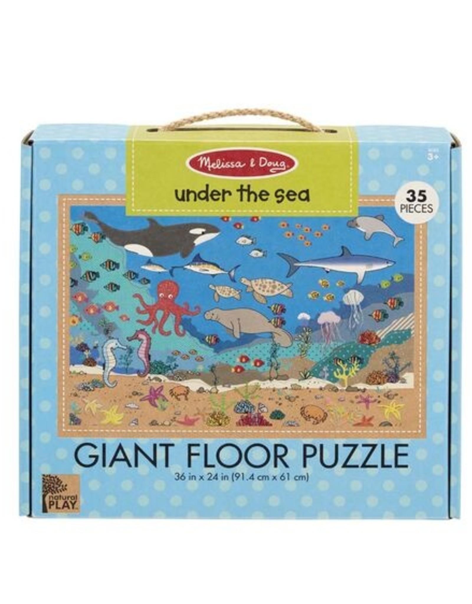 Melissa & Doug Giant Floor Puzzle Under The Sea 35pc