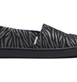 TOMS FA20 Yth Alpargata Black Zebra  Shimmer