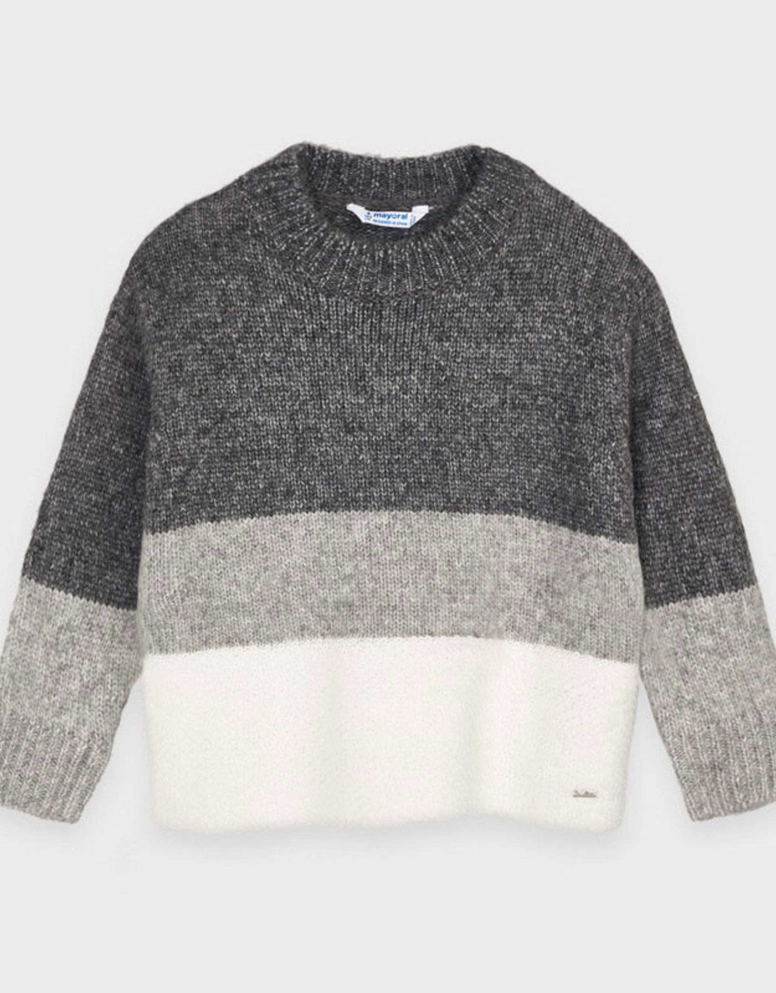 Mayoral FA20 Tri-Tone Grey Sweater