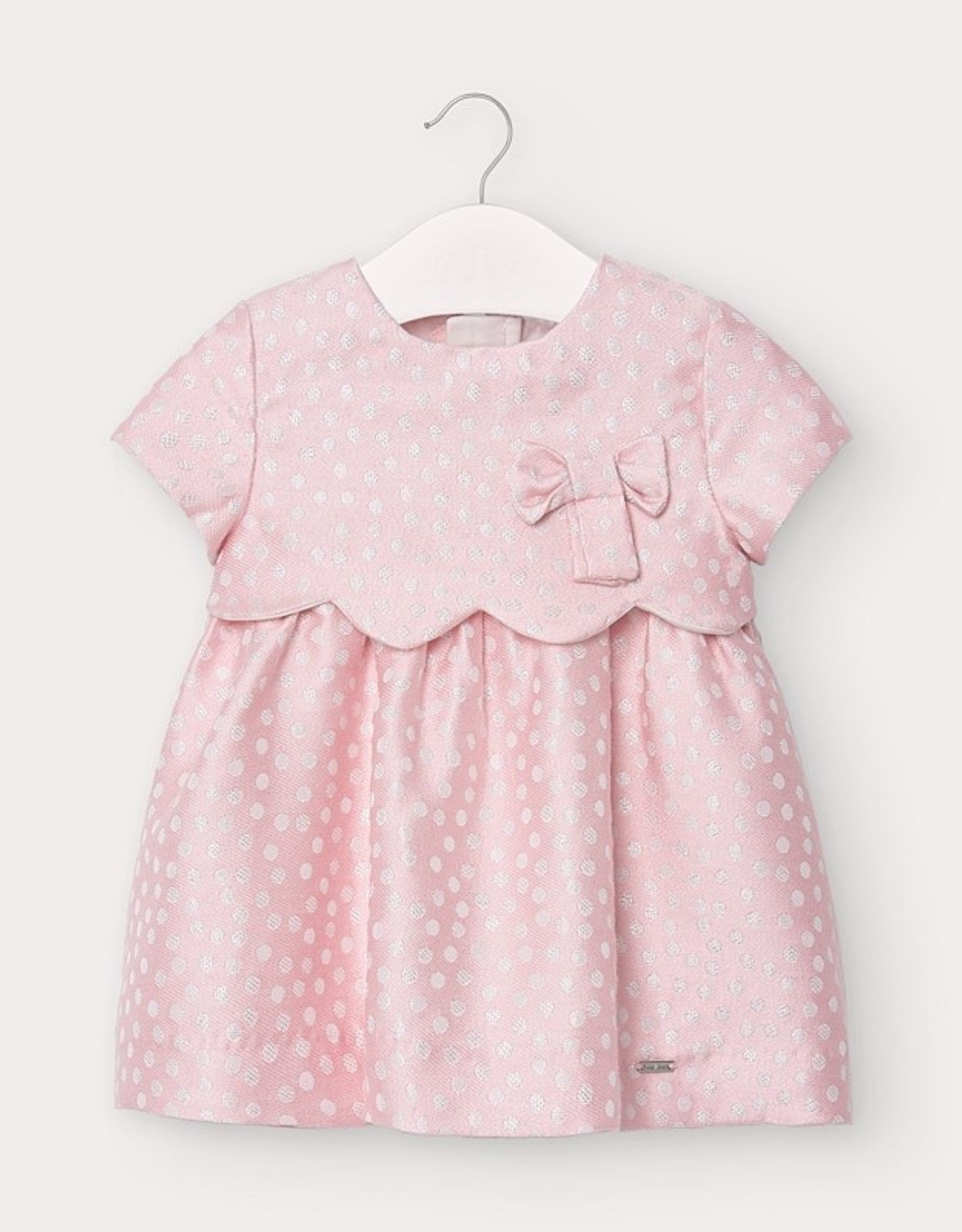 Mayoral FA20 Pink Polka Dot Dress