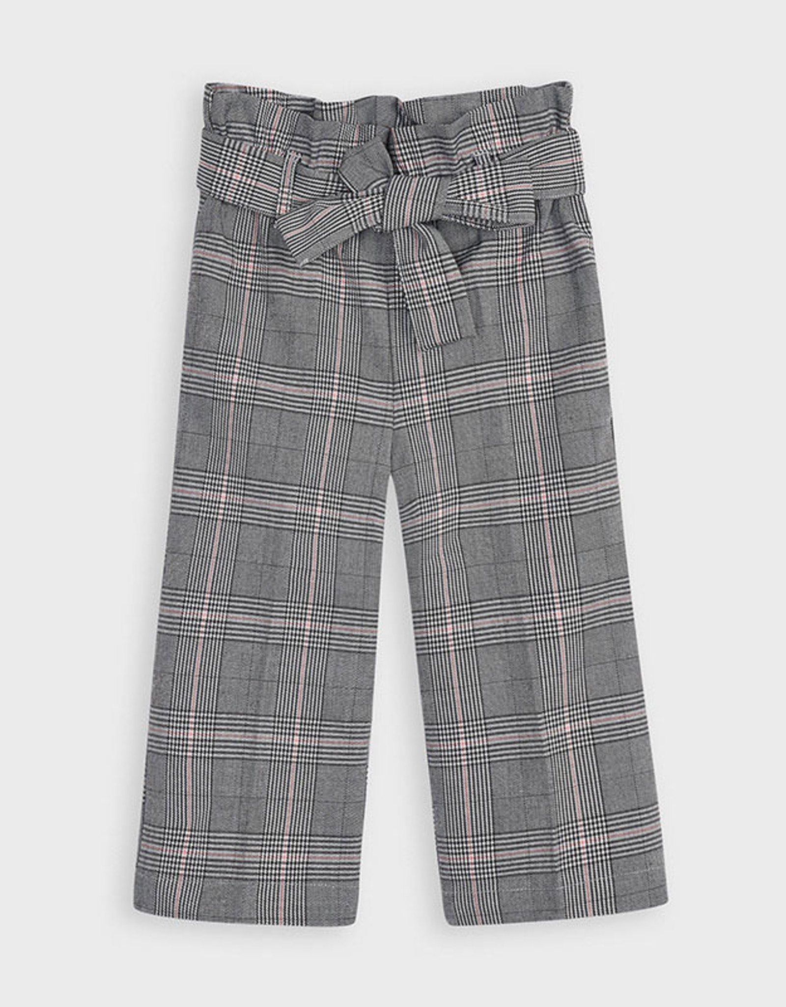 Mayoral FA20 Grey Cropped Checked Pant