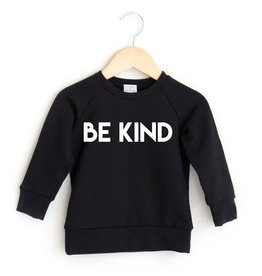 Posh & Cozy FA20 Be Kind Crew Toddler - Black