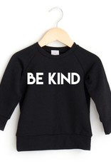 Posh & Cozy FA20 Be Kind Crew Baby -  Black