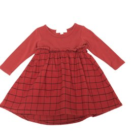 Greige FA20 Long Sleeve Remix Dress- Maple Red