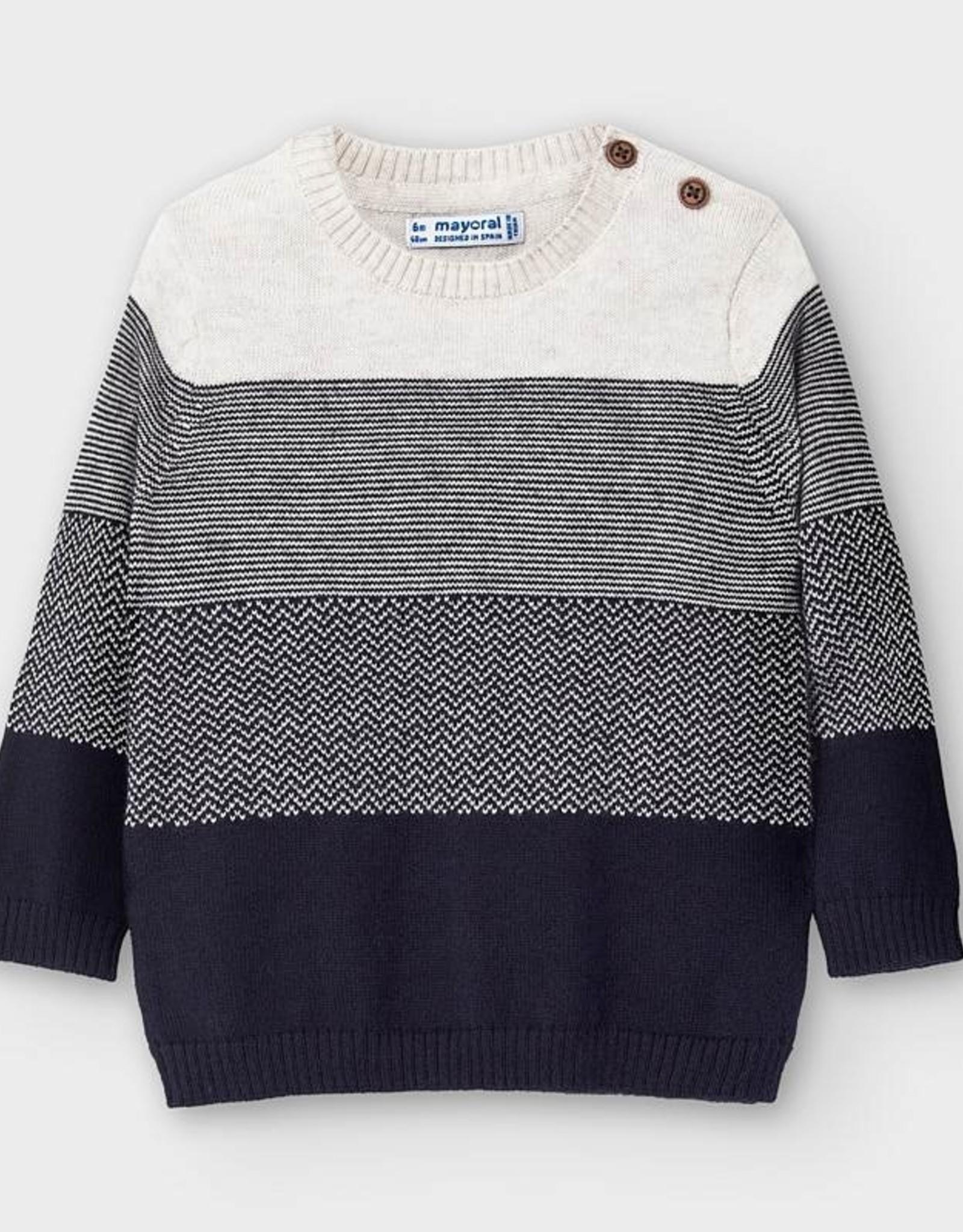 Mayoral FA20 Navy Stripe Sweater