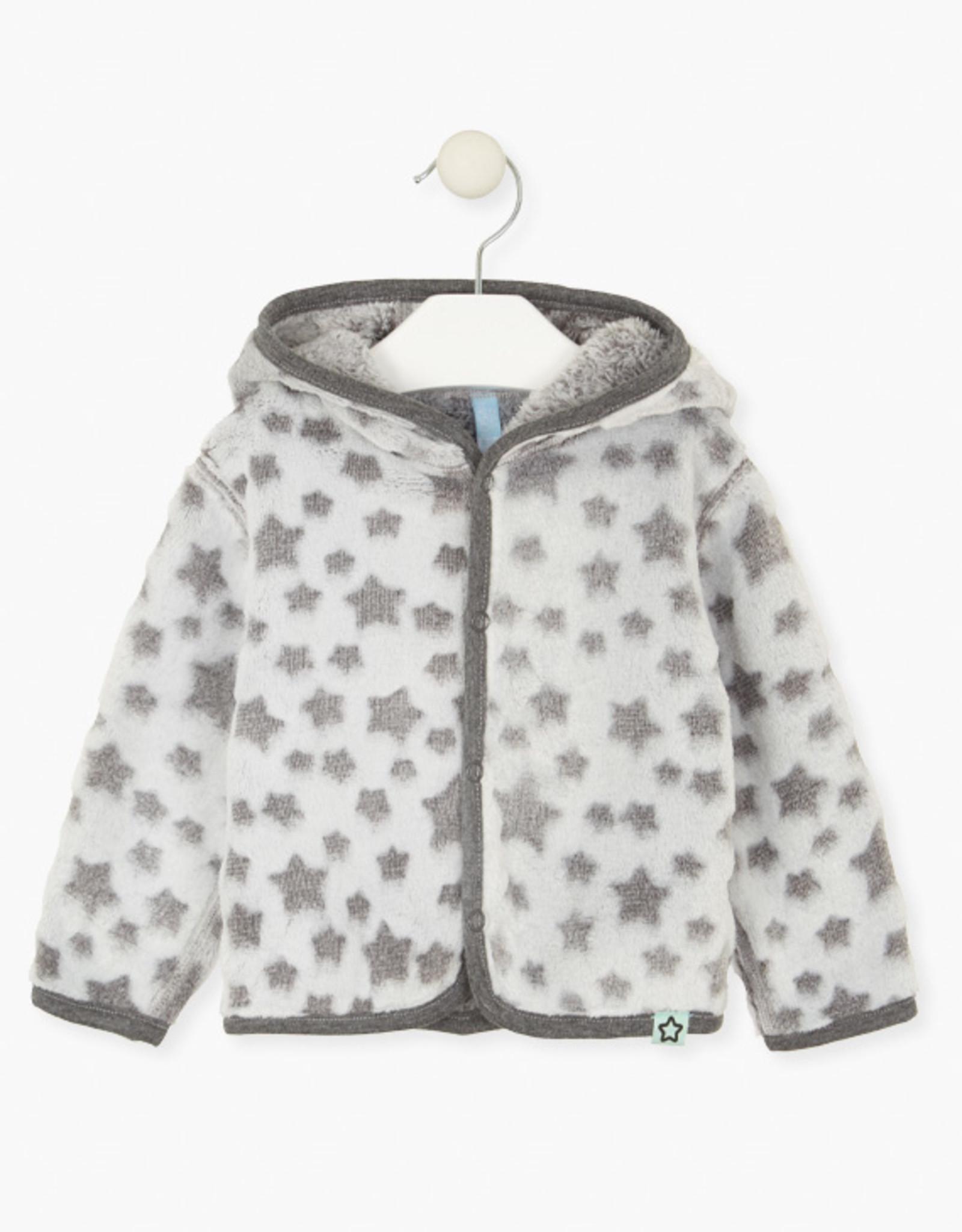 Losan FA20 Baby Faux Fur Jacket w/ stars