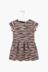 Losan FA20  Tweed Dress - pink/mauve