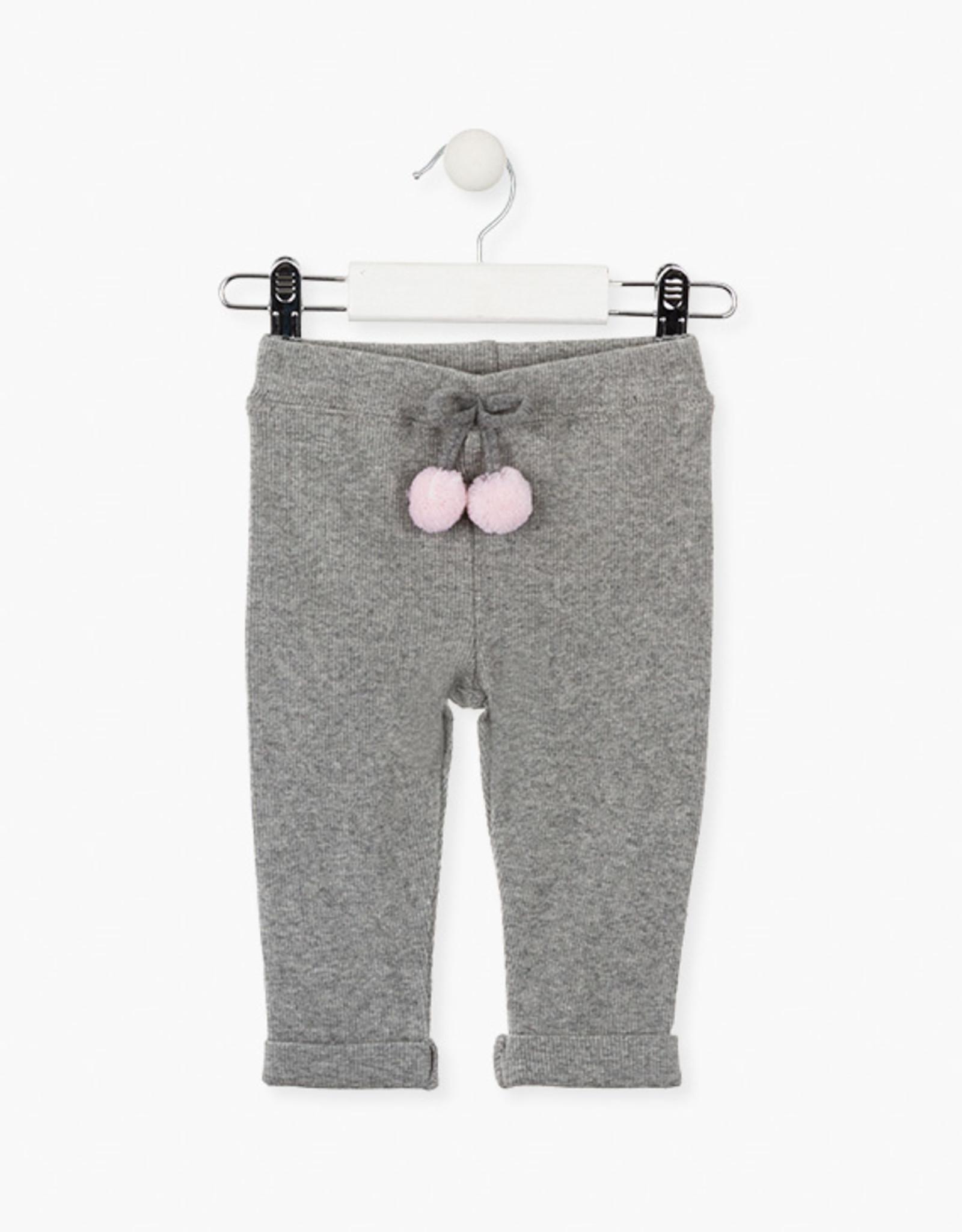 Losan FA20 Grey Rib Knit Leggings