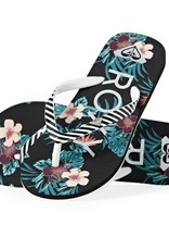 Roxy Pebbles Flip Flops - Pink or Black
