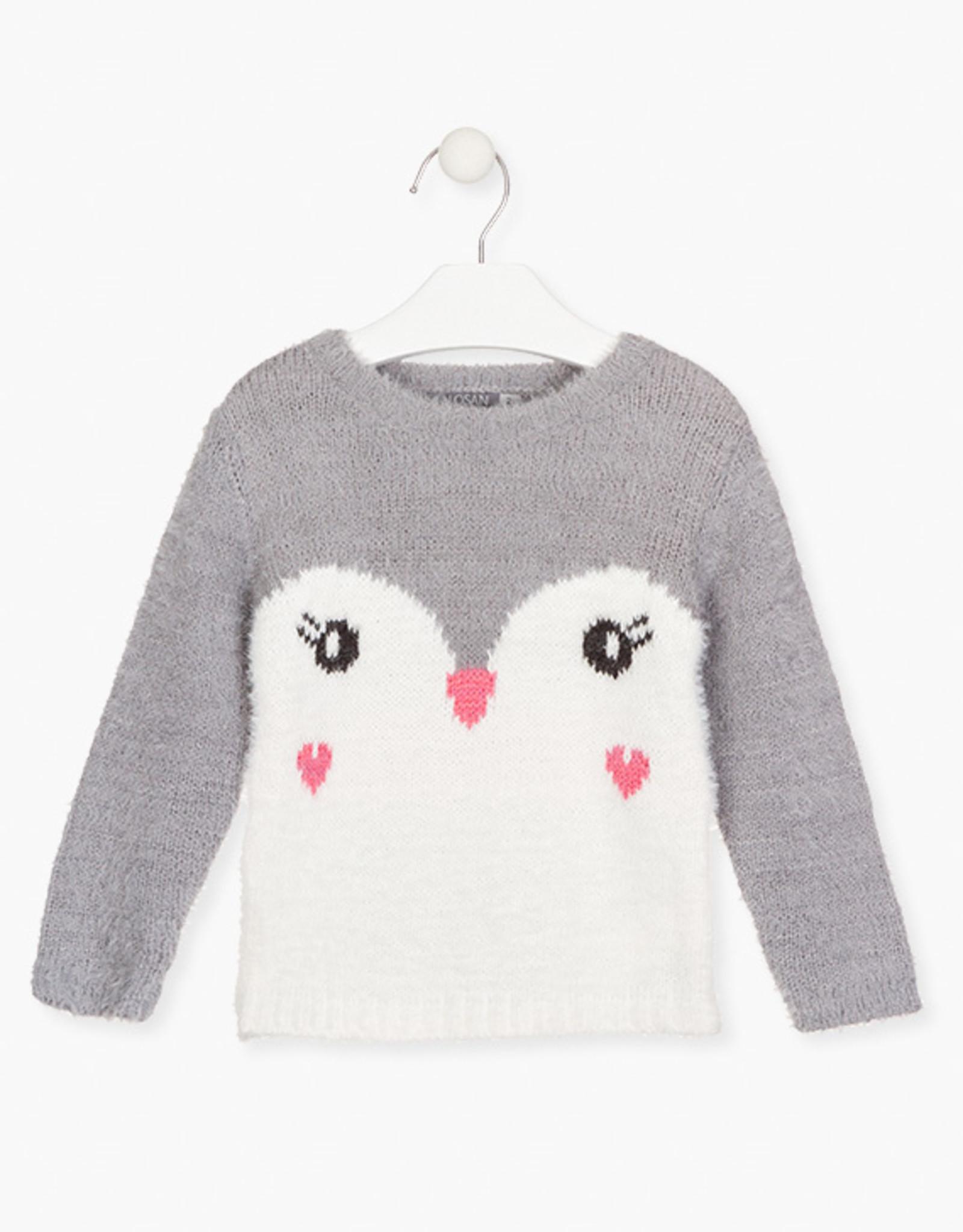 Losan FA20 Fluffy Penguin Sweater