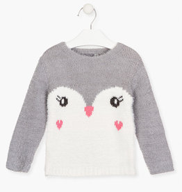 Losan FA20 Fluffy Penguin Sweater