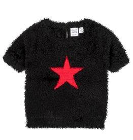 DeuxParDeux FA20 Black Fuzzy Short Sleeve  Sweater