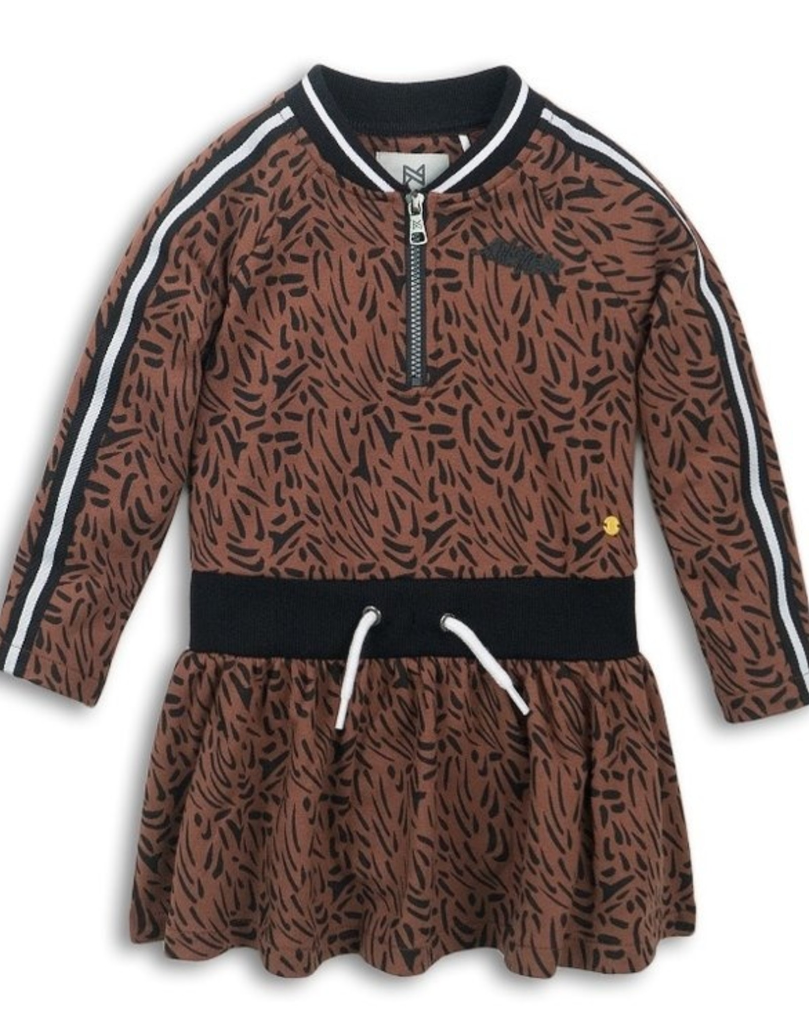 Koko Noko FA20 Brown Leopard Print  Dress w/ Zip
