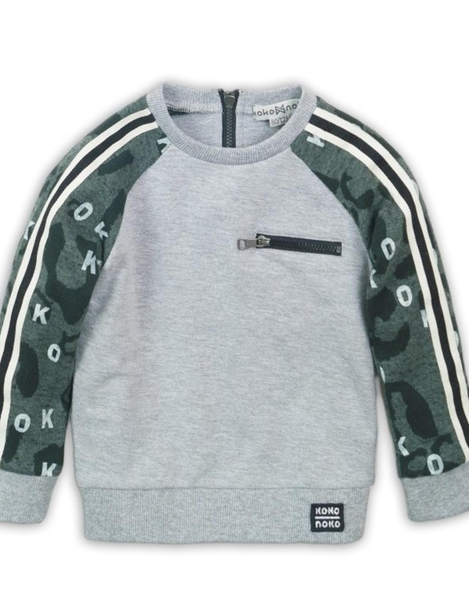 Koko Noko FA20 Grey Sweatshirt w/ Zip