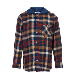MinyMo FA20 Boys Hooded Check LongSleeve Shirt