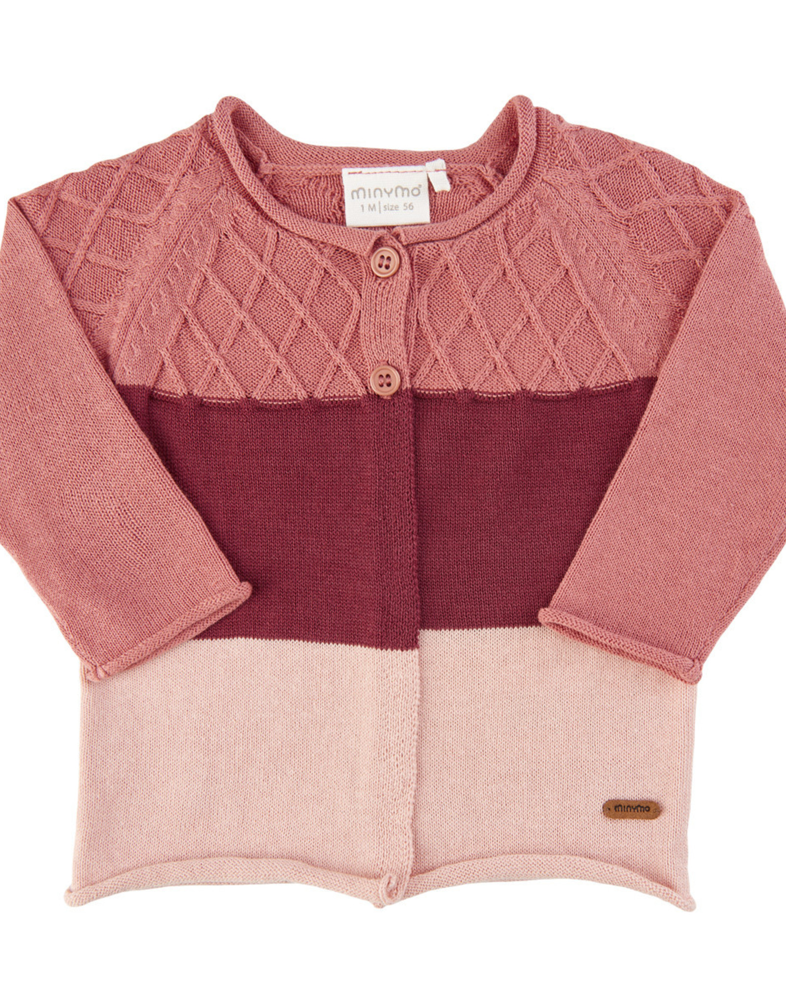 MinyMo FA20 Baby Rose Knit Cardigan