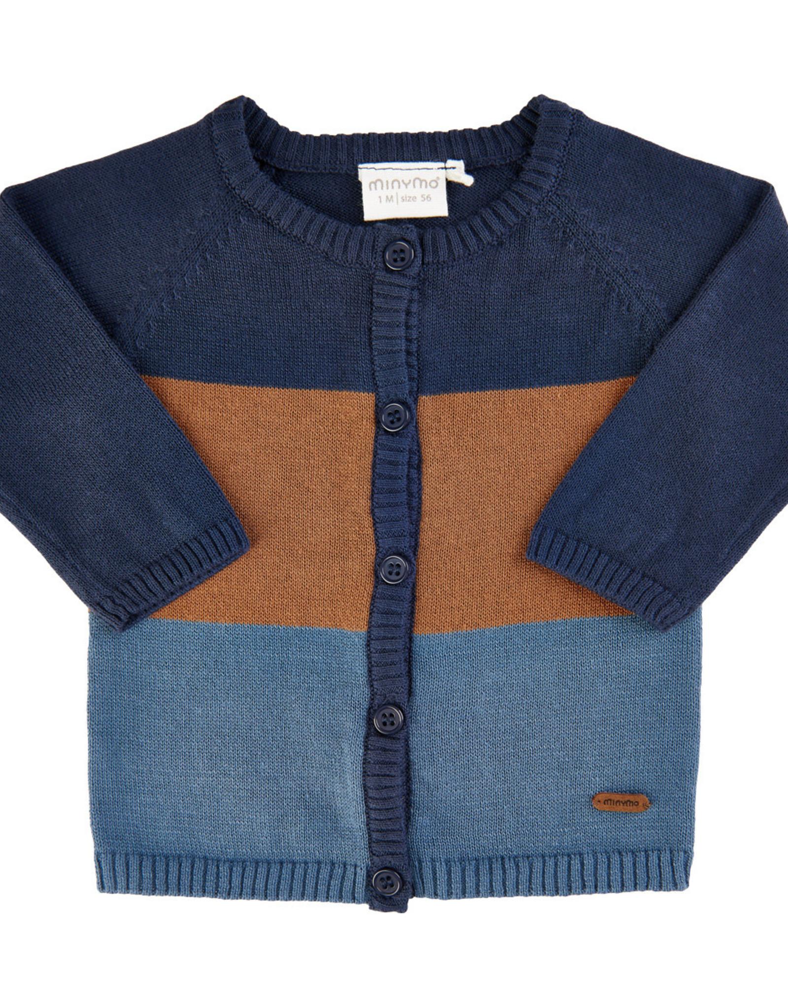 MinyMo FA20 Baby Indigo Knit Cardigan