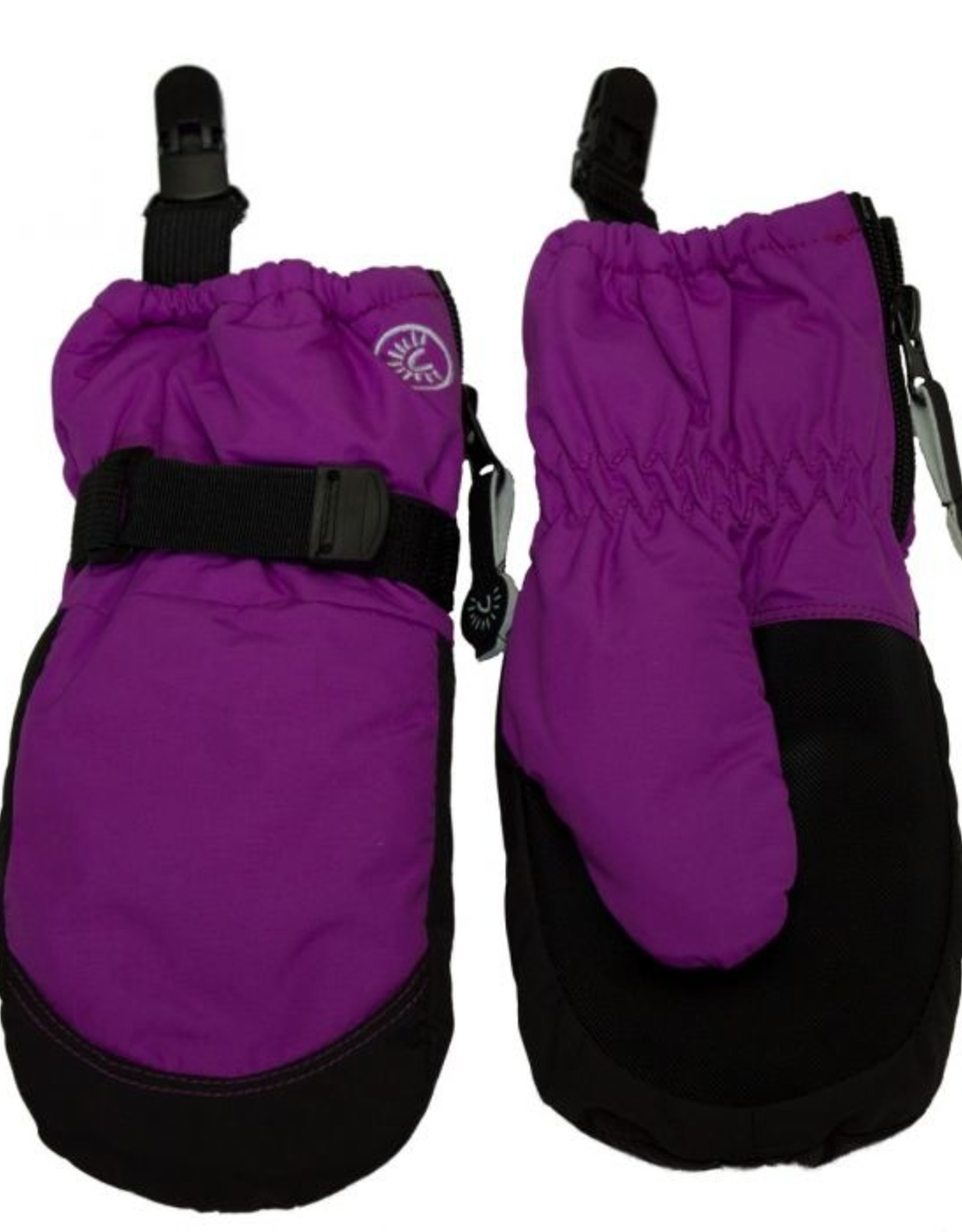 CaliKids FA20 Purple Waterproof Mitten w/Clip