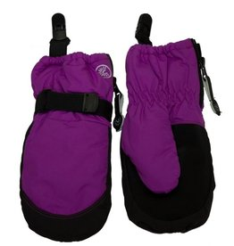 CaliKids FA20 Purple Waterproof Mitten w/Clip
