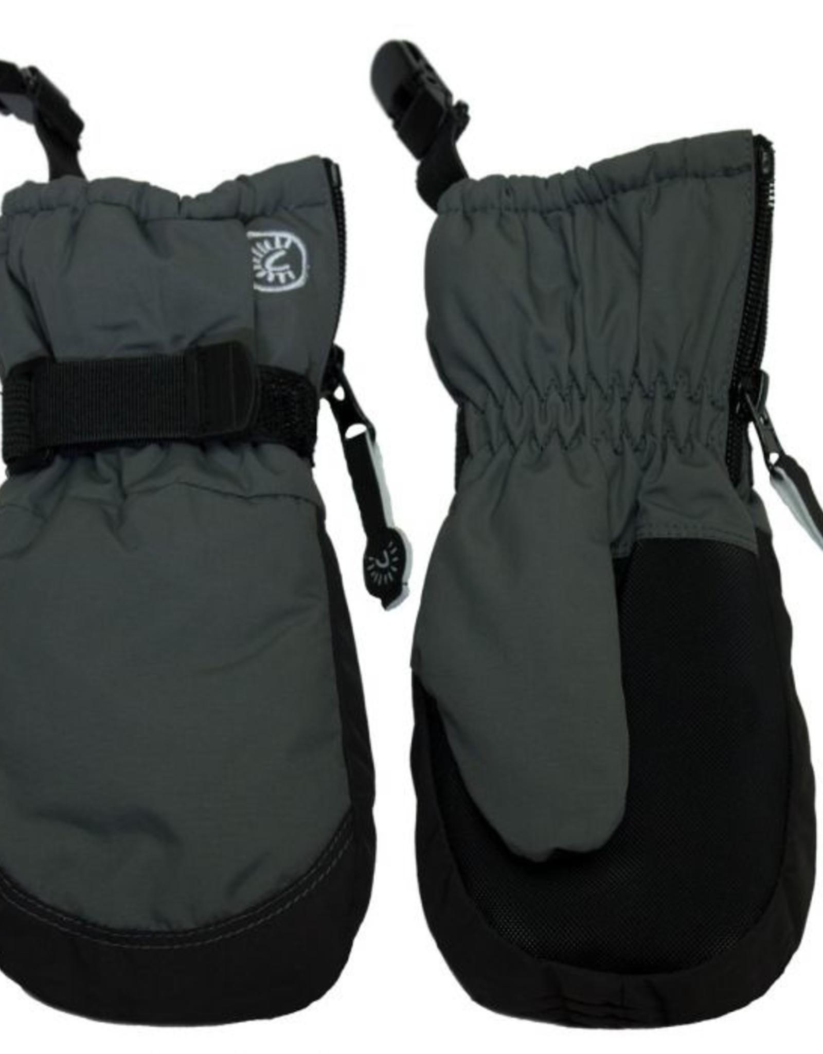 CaliKids FA20 Grey Waterproof Mitten w/Clip