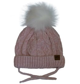 CaliKids FA20 Pink Cabled Knit Hat