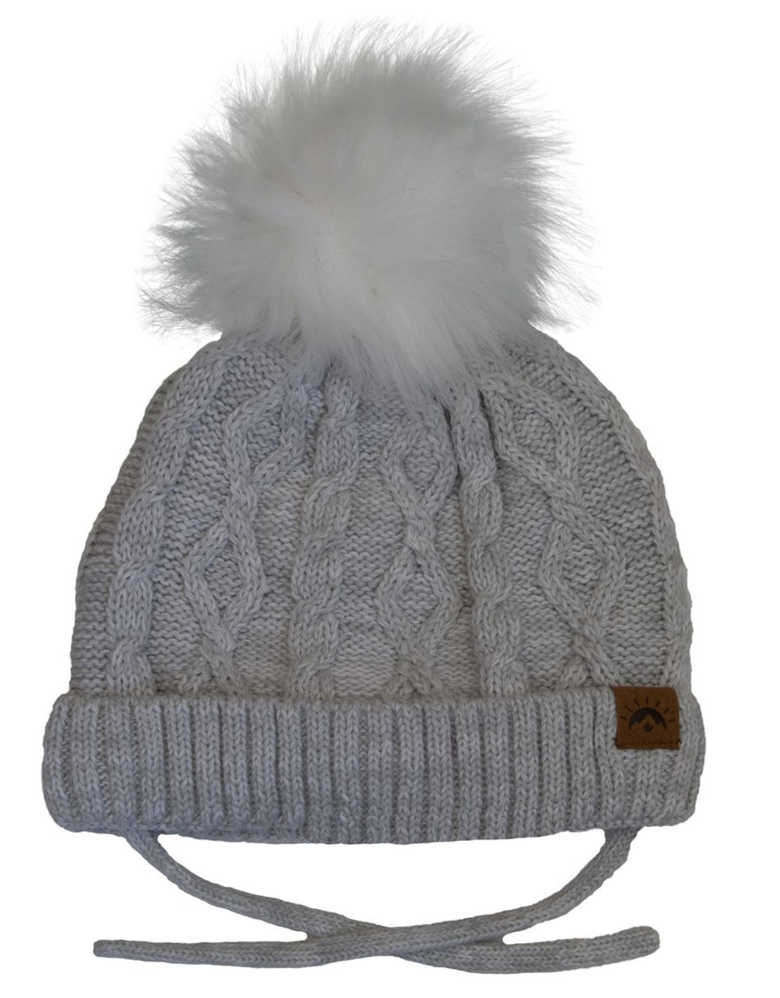 CaliKids FA20 White Mix Cabled Knit Hat