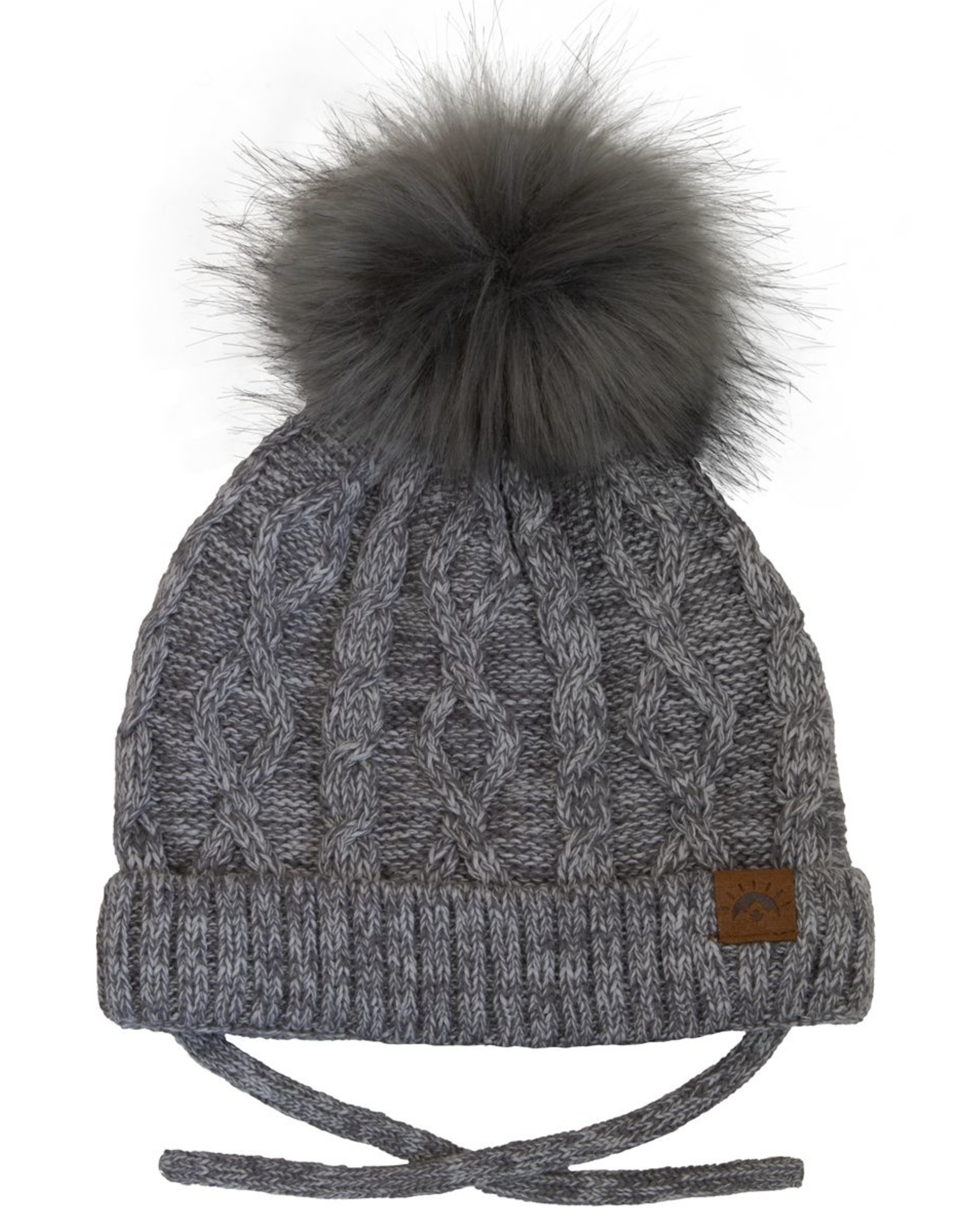CaliKids FA20 Grey Cabled Knit Hat