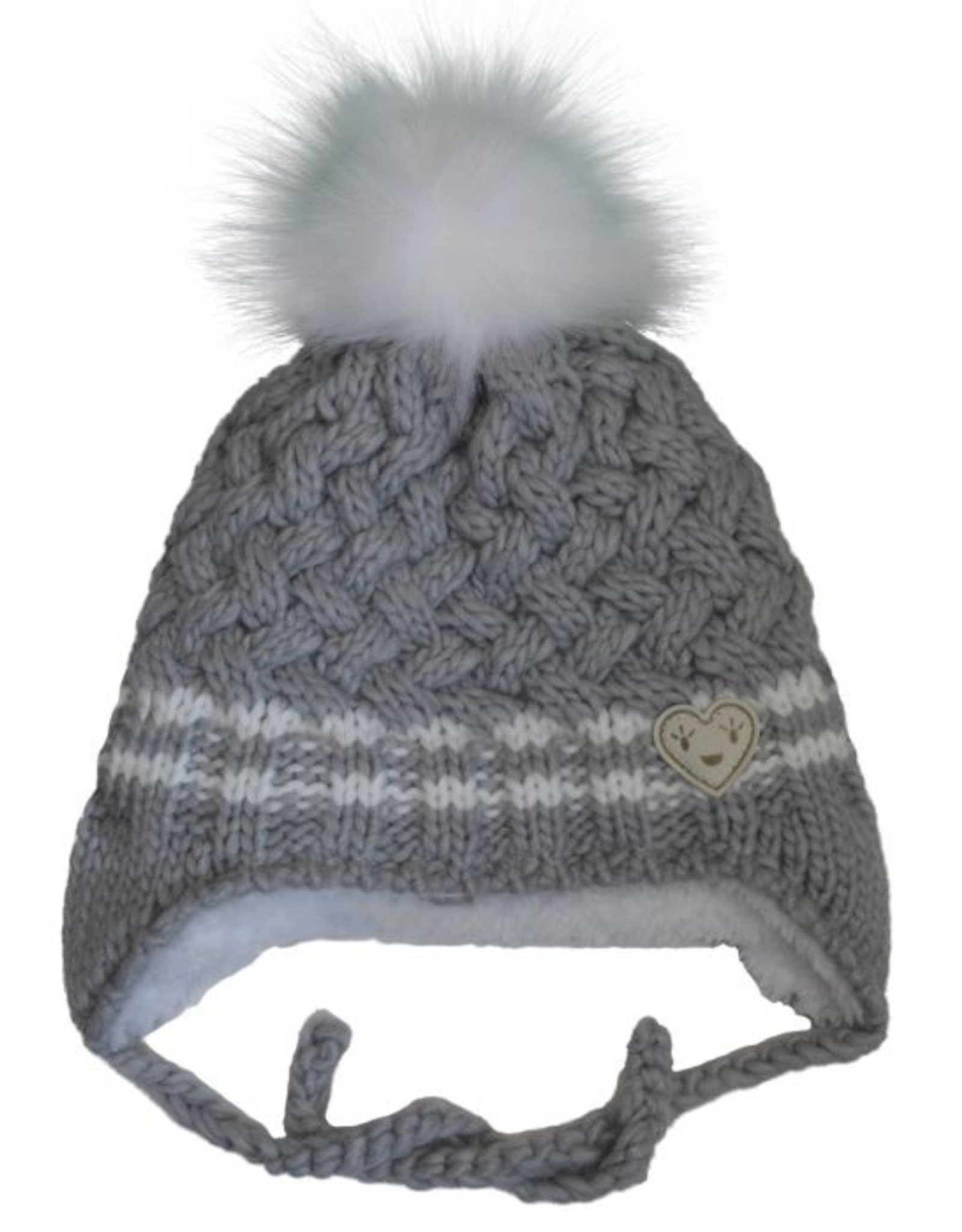 CaliKids FA20 Grey Heart Knit Hat